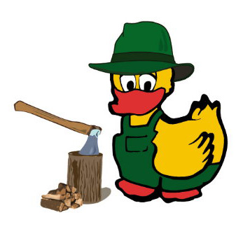 Unsere Holzhack-Ente